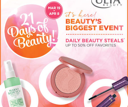 """Ulta's """"21 Days of Beauty"""" Event is here!"""