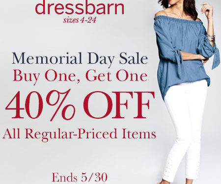 dressbarn Memorial Day Weekend Sale!