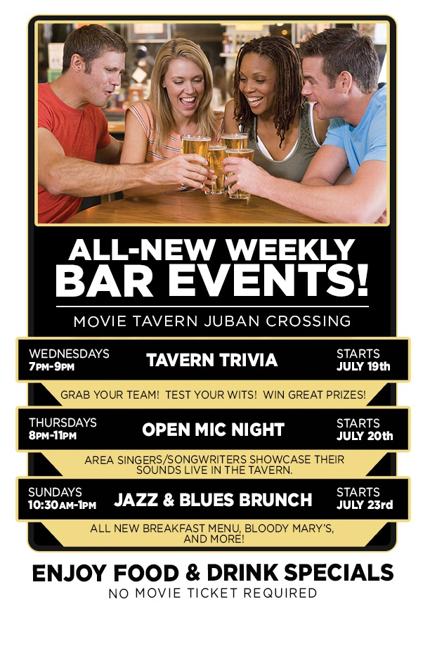 New Weekly Events at Movie Tavern!
