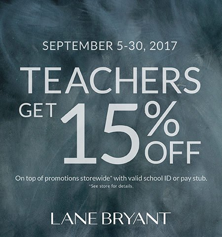 Lane Bryant's Special Sale Just for Teachers!